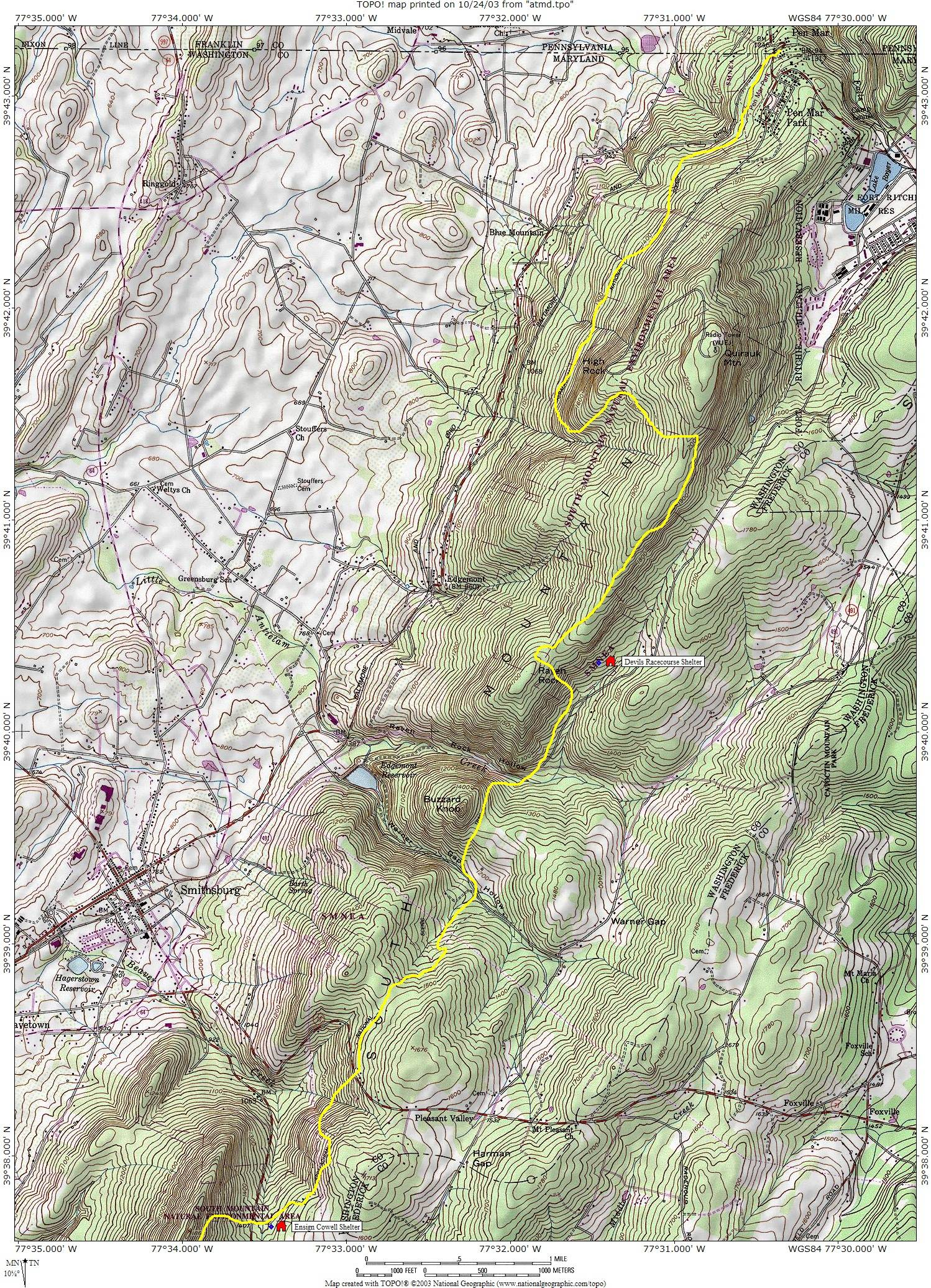 Running the Maryland Appalachian Trail